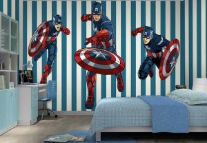 Tema Kamar Captain America